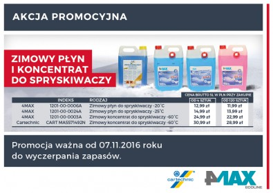 4MAX i CARTECHNIC - niższe ceny koncentratów i płynów do spryskiwaczy