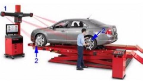 Urządzenia typu 3D do pomiaru geometrii kół i osi pojazdu