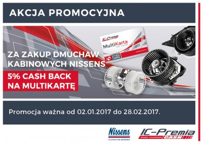 NISSENS - 5% CASH BACK na MultiKartę