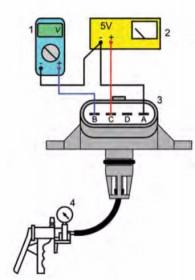 Diagnostyka czujnika ciśnienia absolutnego w stanie wymontowanym
