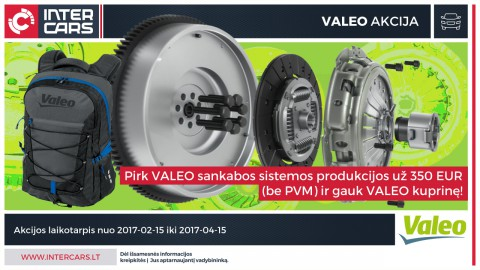 VALEO sankabos sistemos akcija
