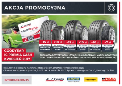 GOODYEAR IC Premia CASH - Wiosna 2017