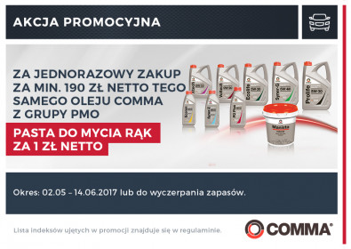 Comma PMO pasta do rąk