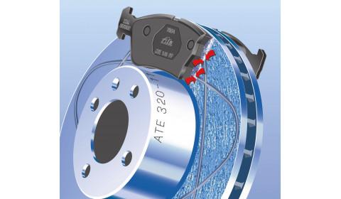 Pirmasis pasaulyje stabdžių diskas su daugiafunkciais grioveliais