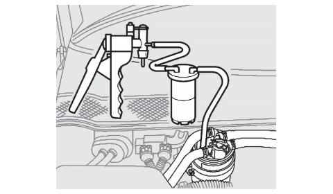 Nesandari degalų tiekimo sistema pakeitus kuro filtrą