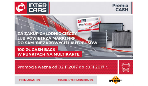 Chłodnice cieczy lub powietrza do sam. ciężarowych i autobusów marki NRF - 100 zł CASH BACK na MultiKartę