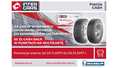 Opony ciężarowe Michelin - 65 zł na MultiKartę