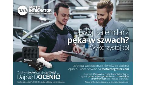 Konkurs Motointegrator.com dla warsztatów - Daj się docenić! Zdobywaj opinie, graj o gadżety!
