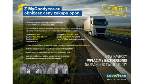 Promocja opon ciężarowych Goodyear i Dunlop wiosna 2018