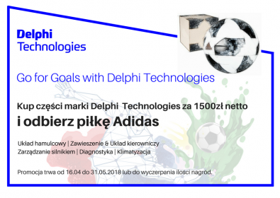 Promocja GO for GOALS with Delphi Technologies