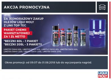 LIQUI MOLY TOP TEC - CHEMIA WARSZTATOWA PAKIET ZA 1 ZŁ
