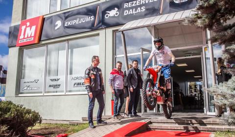 Inter Motors moto veikala atklāšana