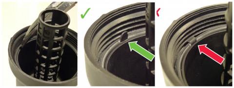 Informacinė žinutė montuojant MAHLE alyvos filtrus OX 379D ir OX 370D1