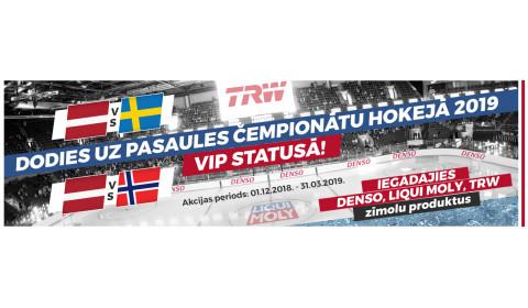 PČ HOKEJĀ 2019 VIP STATUSĀ