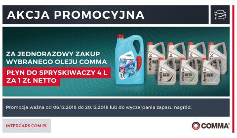 Nowa akcja promocyjna na oleje Comma
