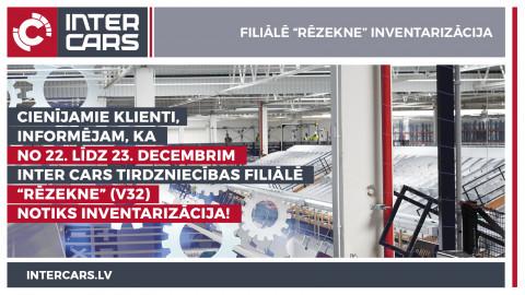 """Filiālē """"Rēzekne"""" V32 inventarizācija"""