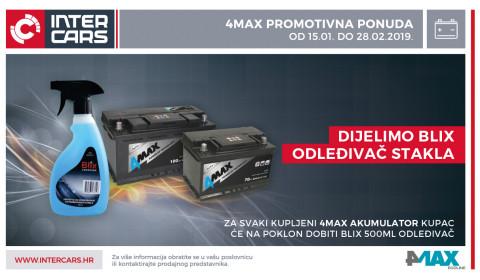 4Max promotivna ponuda - osvoji Blix odleđivač za staklo