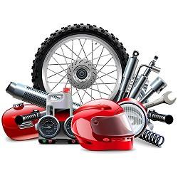 Мотоциклетни части, консумативи и екипировка