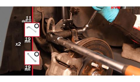 """""""Kyb"""" montavimo instrukcija: """"Mitsubishi Asx"""" - priekis"""