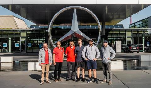 Jaunais Automehāniķis finālisti Mercedes un Elring rūpnīcās