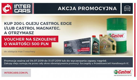 Nowa promocja Inter Cars na oleje Castrol EDGE i Magnatec