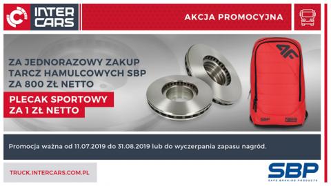 Kup tarcze hamulcowe marki SBP i skorzystaj z możliwości zakupu plecaka za złotówkę