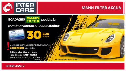 MANN-FILTER akcijas 1. mēneša uzvarētāji noteikti!