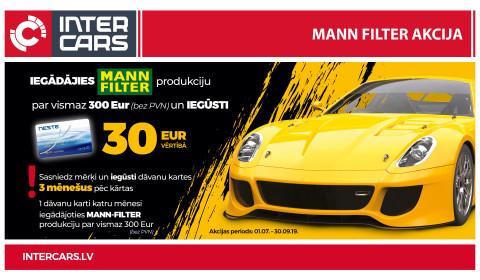 MANN-FILTER akcijas 2. mēneša uzvarētāji noteikti!