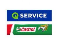 Q Service Castrol Szwarc Gruba
