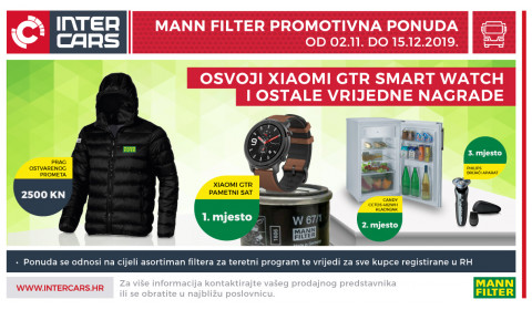 MANN FILTER promotivna ponuda - smart watch, jakna i ostale vrijedne nagrade