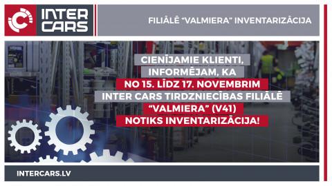 """Filiāles V41 """"Valmiera"""" inventarizācija 15.-17.11."""