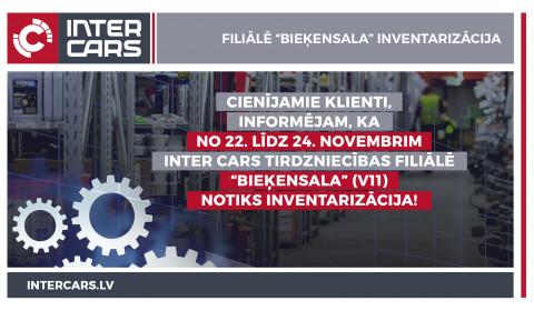 """Filiāles V11 """"Bieķensala"""" inventarizācija 22.-24.11."""