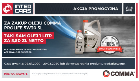 Olej za olej od Comma