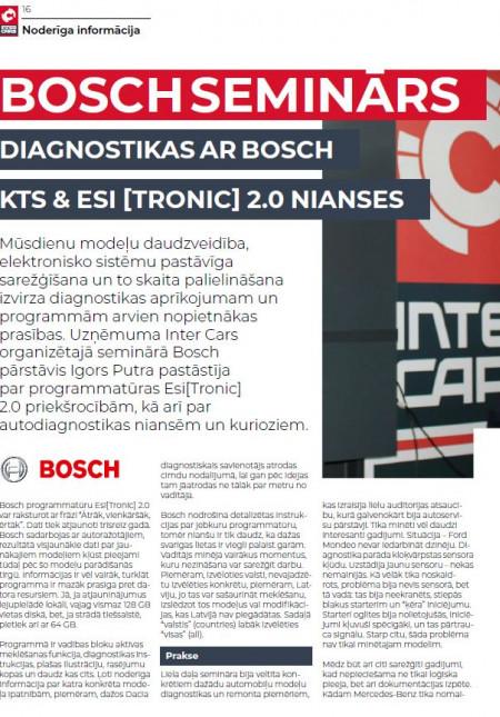 BOSCH / Diagnostika KTS & ESI 2.0 nianses