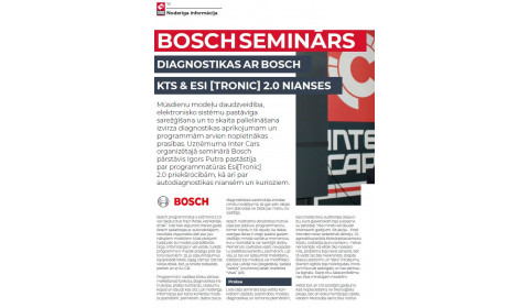 BOSCH / Diagnostika KTS & ESI 2.0 nianses