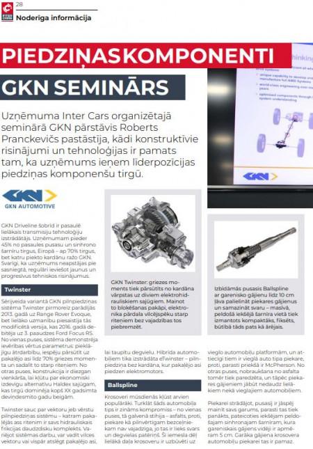 GKN / piedziņas komponenti
