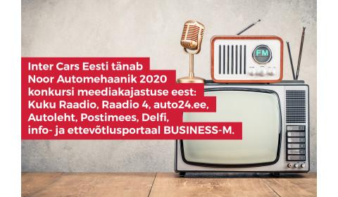 Inter Cars Eesti tänab Noor Automehaanik 2020 konkursi meediakajastuse eest