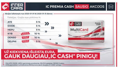 IC PREMIA CASH sausio mėn. akcijos l. automobilių dalims