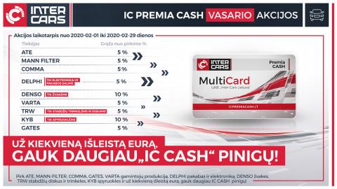 IC PREMIA CASH vasario mėn. akcijos l. automobilių dalims