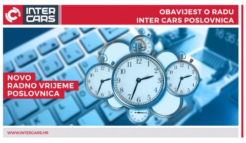 Promjena radnog vremena Inter Cars poslovnica