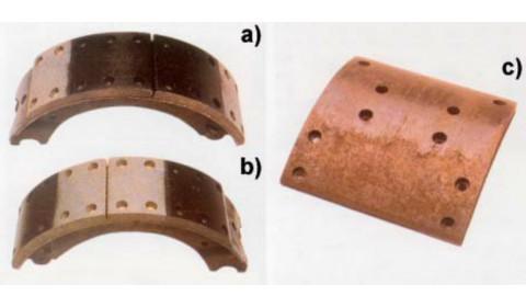 Typowe uszkodzenia okładzin ciernych hamulców bębnowych