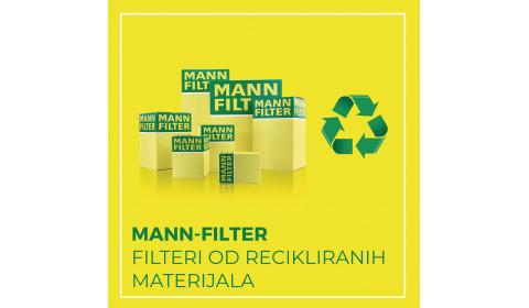 MANN-FILTER filteri i kutije proizvedeni od recikliranih materijala