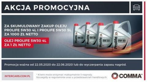 Promocja na Oleje Comma
