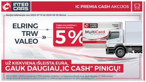 IC PREMIA CASH akcija sunkvežimių dalims