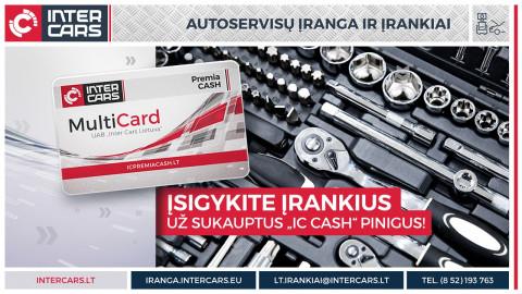 Įsigykite įrankius už IC PREMIA CASH pinigus