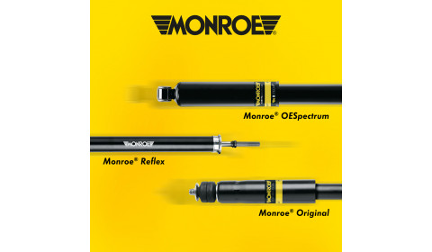 Analiza różnic:  Monroe® OESpectrum vs. Reflex vs. Original