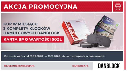 Karty paliwowe za zakup klocków hamulcowych Danblock