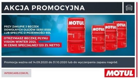 Zdobądź płyn do spryskiwaczy Motul w promocji Inter Cars