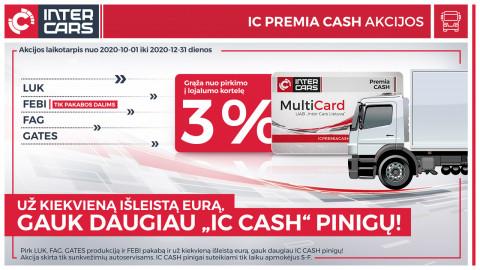 IC PREMIA CASH akcijos sunkvežimių dalims