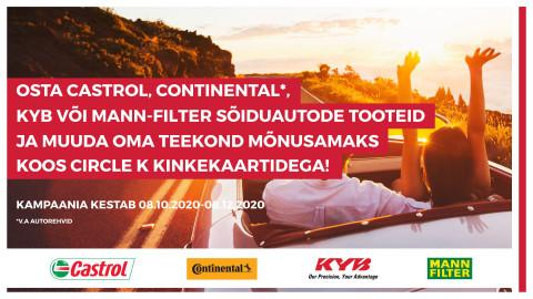CASTROL | CONTINENTAL | KYB | MANN-FILTER kampaania